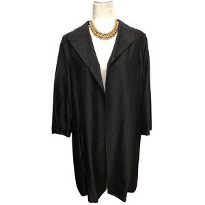 Eileen Fisher Black Silk Duster Jacket Oversized L